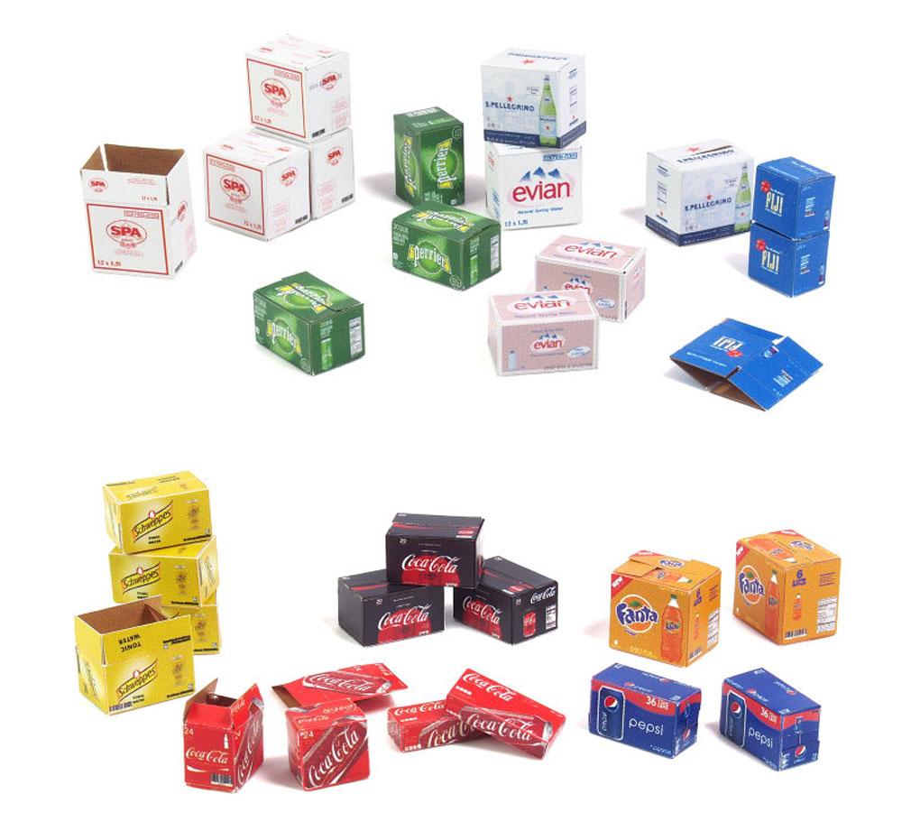 段ボール箱セット ボーナスパックペーパークラフト(マソモデルズペーパーアクセサリーNo.35075)商品画像_4