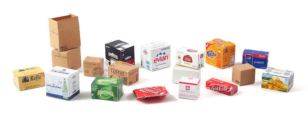 段ボール箱セット スモールセット 1ペーパークラフト(マソモデルズペーパーアクセサリーNo.35076)商品画像_2