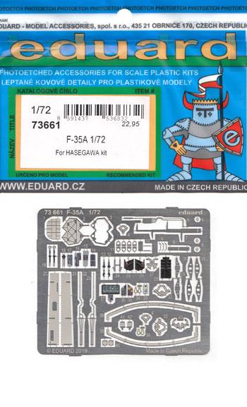 F-35A エッチングパーツ (ハセガワ用)エッチング(エデュアルド1/72 エアクラフト用 カラーエッチング (73-×)No.73661)商品画像