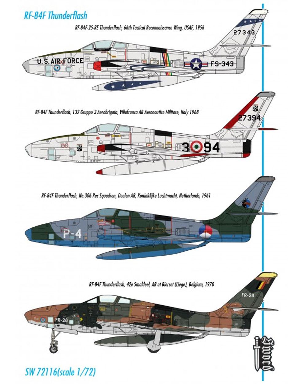 RF-84F サンダーフラッシュ パート1プラモデル(ソード1/72 エアクラフト プラモデルNo.72116)商品画像_2