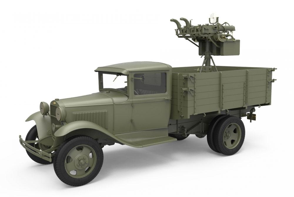 ソビエト 1.5t トラック M-4 マキシム対空機関銃搭載プラモデル(ミニアート1/35 WW2 ミリタリーミニチュアNo.35186)商品画像_2
