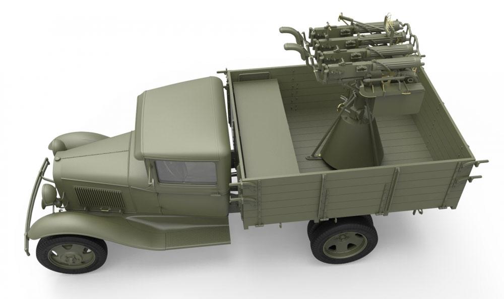 ソビエト 1.5t トラック M-4 マキシム対空機関銃搭載プラモデル(ミニアート1/35 WW2 ミリタリーミニチュアNo.35186)商品画像_3