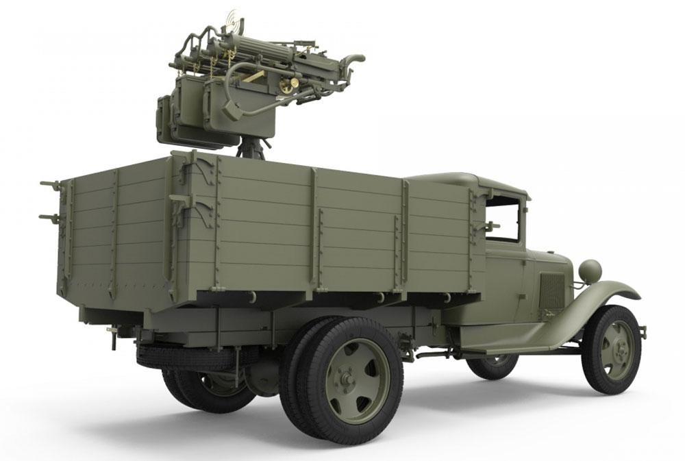 ソビエト 1.5t トラック M-4 マキシム対空機関銃搭載プラモデル(ミニアート1/35 WW2 ミリタリーミニチュアNo.35186)商品画像_4