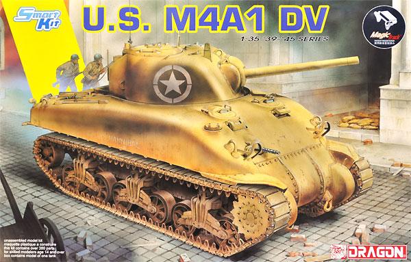 アメリカ M4A1 シャーマン DV (直視バイザー型) w/マジックトラックプラモデル(ドラゴン1/35