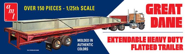 グレートデーン 伸縮 フラットベッド トレーラープラモデル(amt1/25 カーモデルNo.AMT1111/06)商品画像