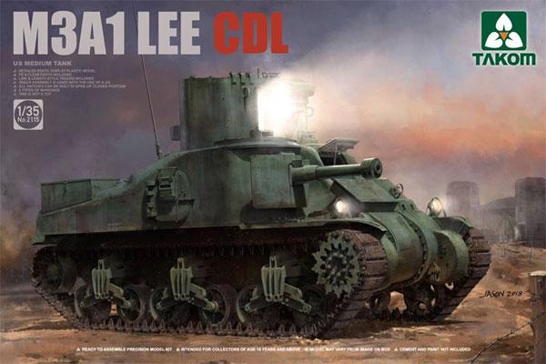 アメリカ 中戦車 M3A1 リー CDLプラモデル(タコム1/35 ミリタリーNo.2115)商品画像