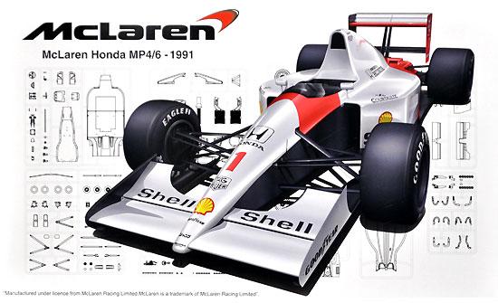 マクラーレン ホンダ MP4/6 (ブラジルGP/サンマリノGP/日本GP)プラモデル(フジミ1/20 GPシリーズNo.GP025)商品画像
