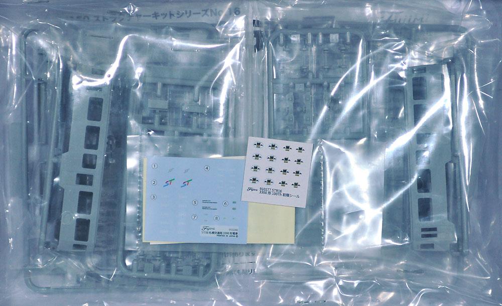 札幌市交通局 3300形 電車 (2両セット)プラモデル(フジミストラクチャー シリーズNo.STR-016)商品画像_1
