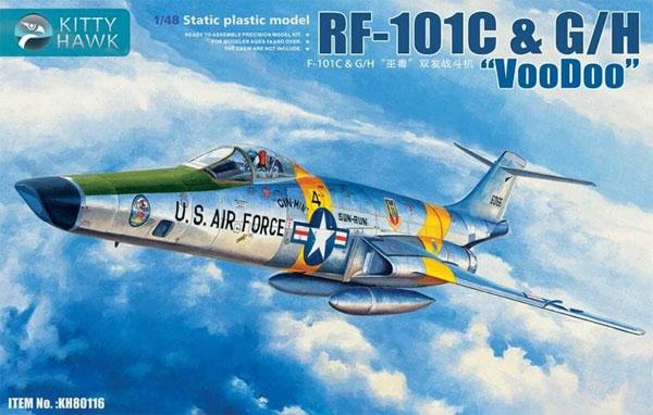 RF-101C & G/H ヴードゥー 偵察機(プラモデル)(キティホーク1/48 ミリタリーNo.KH80116)商品画像