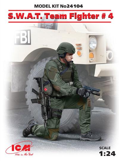 アメリカ S.W.A.T. 隊員 No.4プラモデル(ICM1/24 フィギュアNo.24104)商品画像