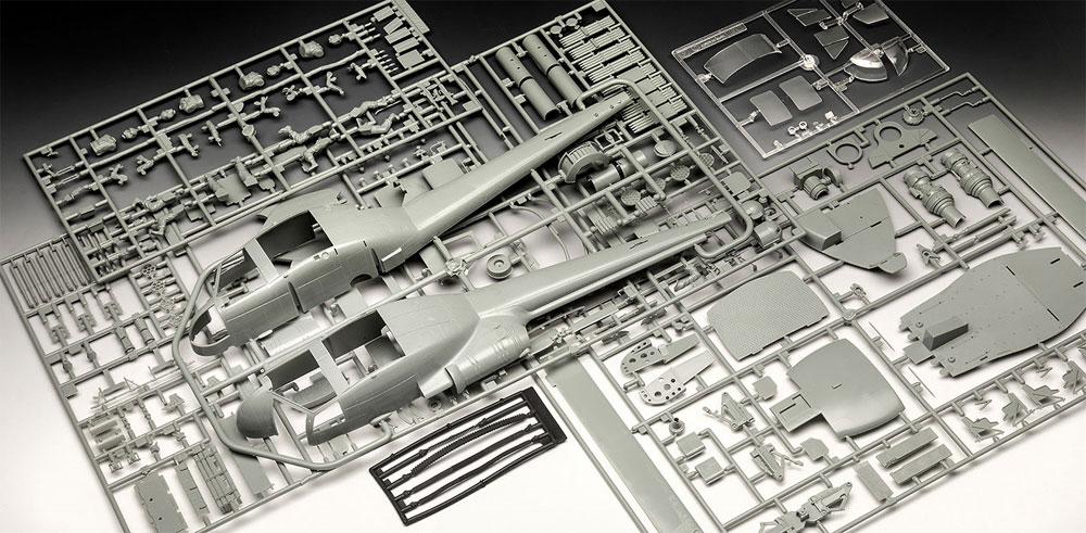 ベル UH-1Cプラモデル(レベルプラスチックモデルNo.04960)商品画像_1