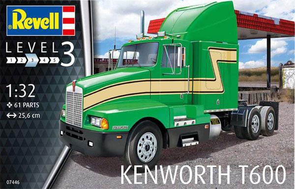 ケンワース T600プラモデル(レベル1/32など カーモデルNo.07446)商品画像