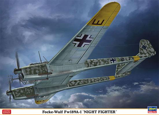 フォッケウルフ Fw189A-1 ナイトファイター(プラモデル)(ハセガワ1/72 飛行機 限定生産No.02286)商品画像