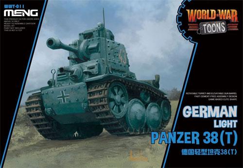 ドイツ 軽戦車 38(t)プラモデル(MENG-MODELWORLD WAR TOONSNo.WWT-011)商品画像