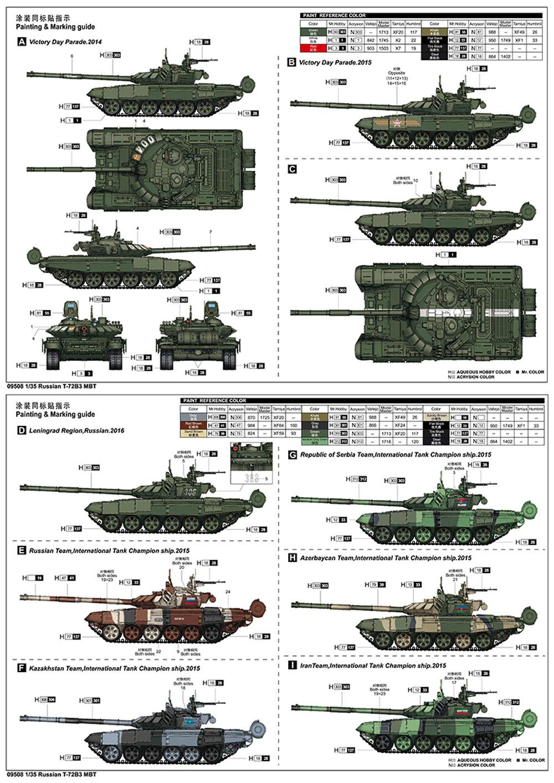 ロシア T-72B3 主力戦車プラモデル(トランペッター1/35 AFVシリーズNo.09508)商品画像_1