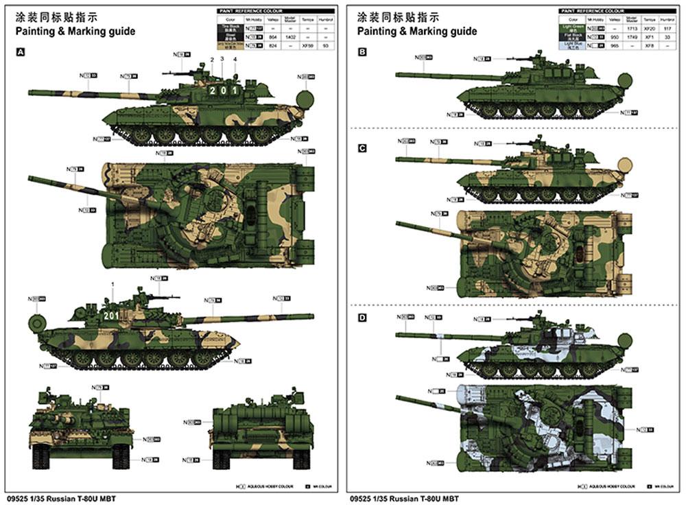 ロシア T-80U 主力戦車プラモデル(トランペッター1/35 AFVシリーズNo.09525)商品画像_1