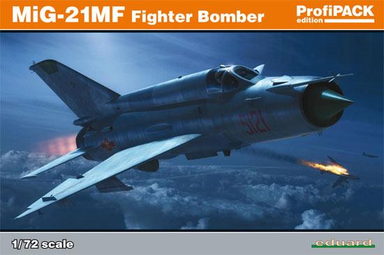 MiG-21MF 戦闘爆撃機プラモデル(エデュアルド1/72 プロフィパックNo.70142)商品画像