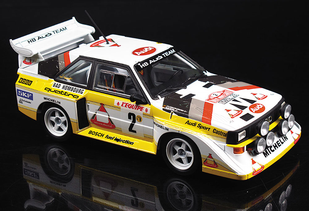 アウディ スポーツ クワトロ S1 E2 '86 モンテカルロラリー仕様プラモデル(BEEMAX1/24 カーモデルNo.021)商品画像_2