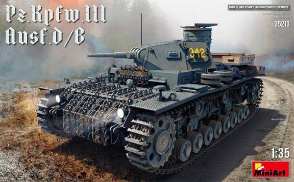 3号戦車 D/B型プラモデル(ミニアート1/35 WW2 ミリタリーミニチュアNo.35213)商品画像