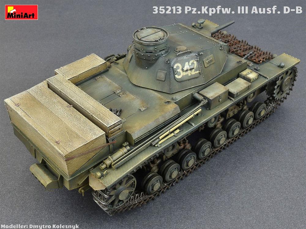 3号戦車 D/B型プラモデル(ミニアート1/35 WW2 ミリタリーミニチュアNo.35213)商品画像_3