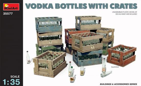 ウオッカボトル 木箱付プラモデル(ミニアート1/35 ビルディング&アクセサリー シリーズNo.35577)商品画像