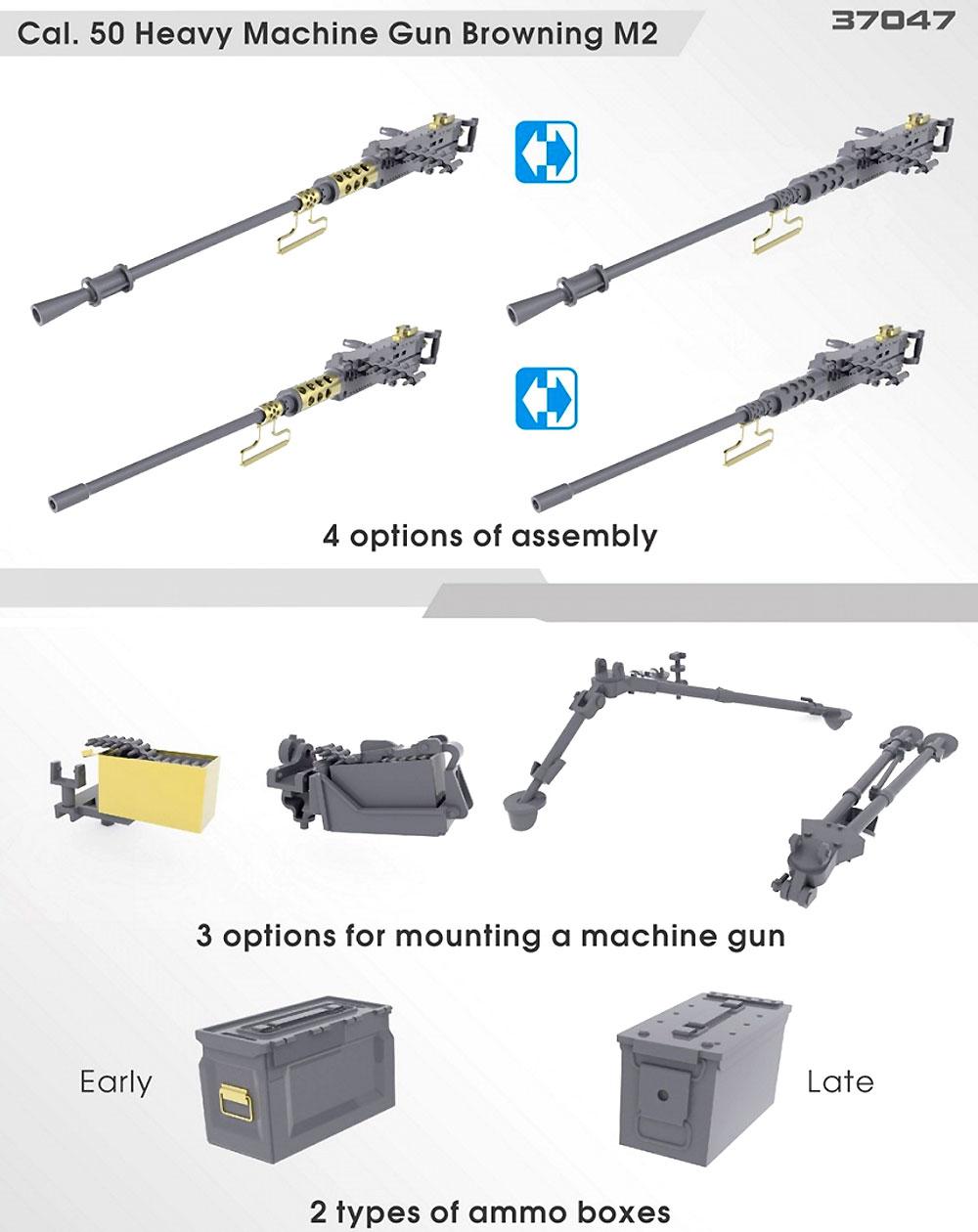 アメリカ 重機関銃セットプラモデル(ミニアート1/35 ミリタリーミニチュアNo.37047)商品画像_2