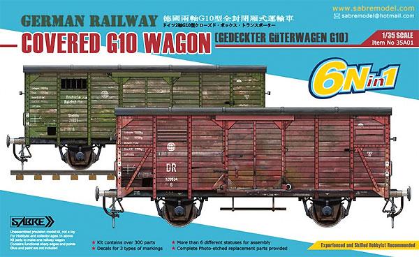 ドイツ 有蓋貨車 G10 (6N in 1)プラモデル(サーベルモデル1/35 ミリタリーNo.35A001)商品画像