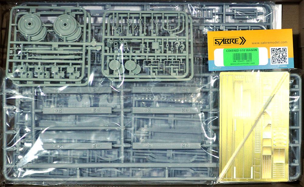 ドイツ 有蓋貨車 G10 (6N in 1)プラモデル(サーベルモデル1/35 ミリタリーNo.35A001)商品画像_1