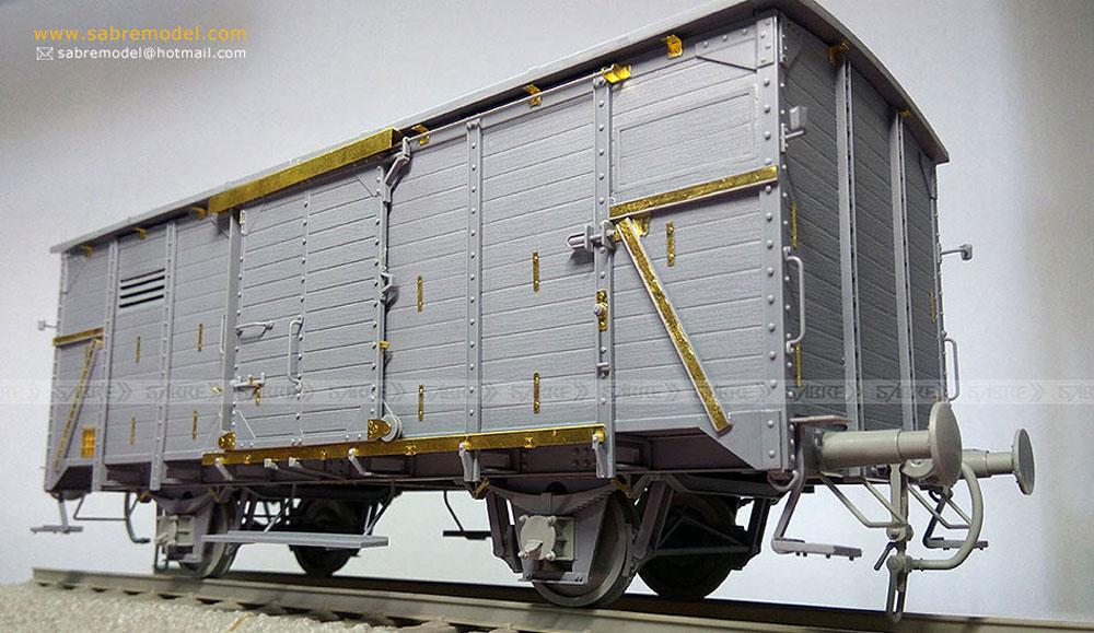 ドイツ 有蓋貨車 G10 (6N in 1)プラモデル(サーベルモデル1/35 ミリタリーNo.35A001)商品画像_2