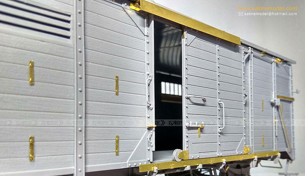 ドイツ 有蓋貨車 G10 (6N in 1)プラモデル(サーベルモデル1/35 ミリタリーNo.35A001)商品画像_3