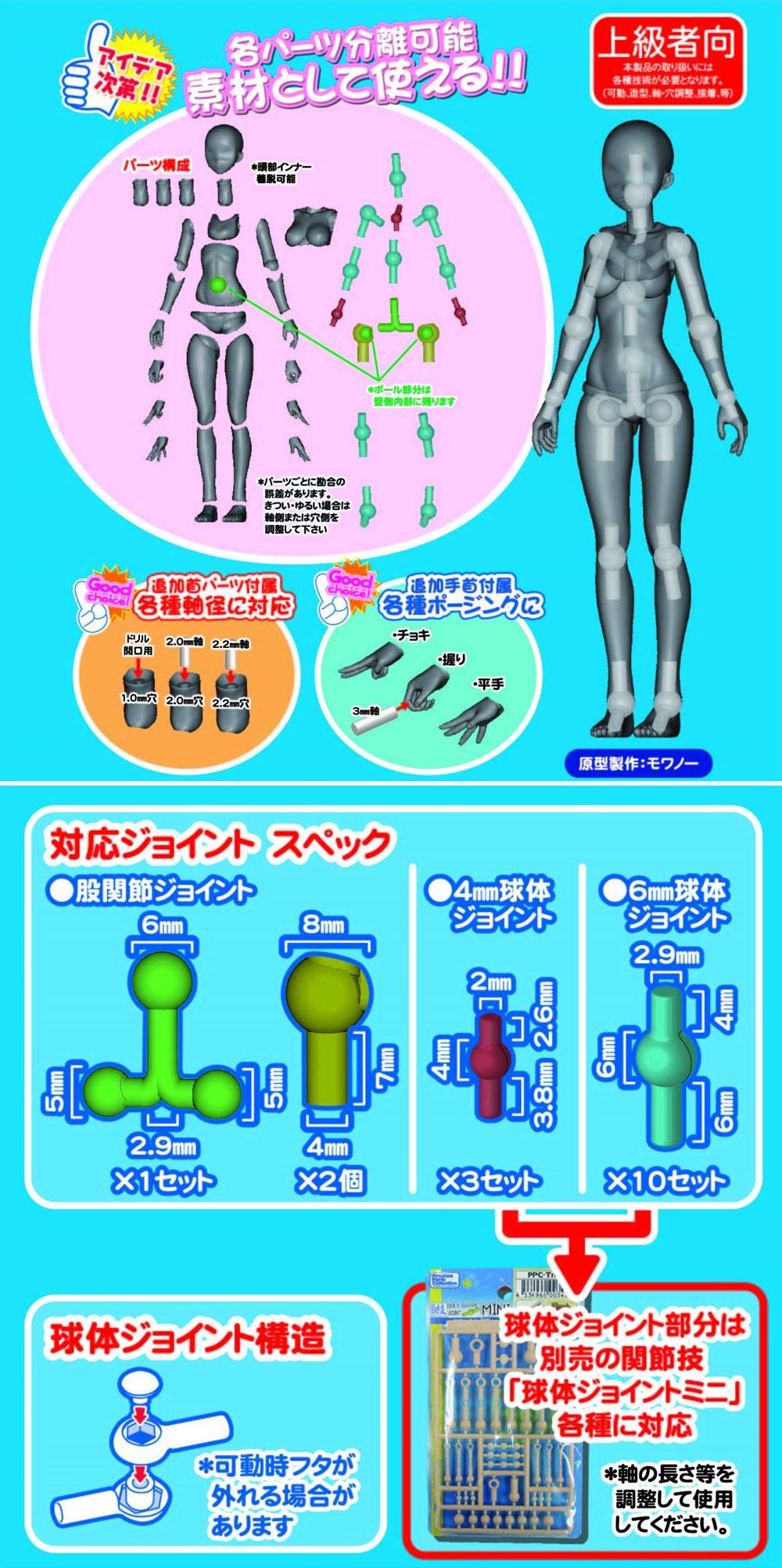 素材ちゃん ライトフレッシュフィギュア(ホビーベース間接技EXNo.PPC-T045)商品画像_4
