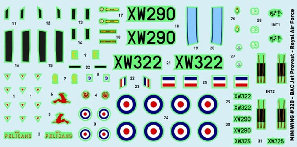 BAC ジェット プロヴォスト T.5プラモデル(ミニウイング1/144 インジェクションキットNo.mini320)商品画像_2