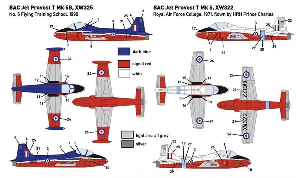 BAC ジェット プロヴォスト T.5プラモデル(ミニウイング1/144 インジェクションキットNo.mini320)商品画像_3