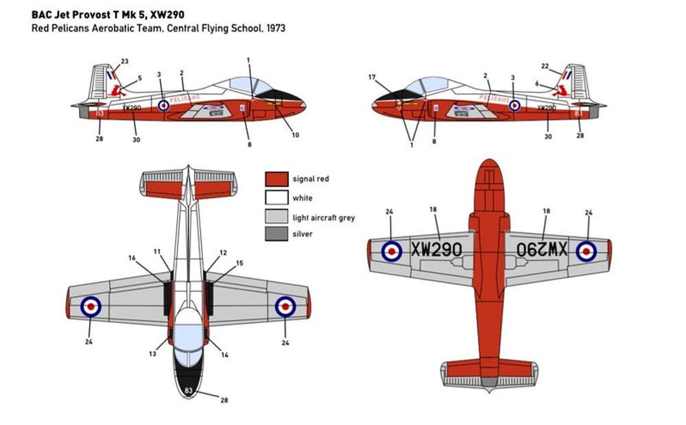 BAC ジェット プロヴォスト T.5プラモデル(ミニウイング1/144 インジェクションキットNo.mini320)商品画像_4