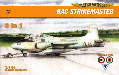 BAC ストライクマスター (クウェート スーダン ボツワナ)プラモデル(ミニウイング1/144 インジェクションキットNo.mini322)商品画像