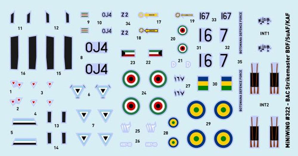 BAC ストライクマスター (クウェート スーダン ボツワナ)プラモデル(ミニウイング1/144 インジェクションキットNo.mini322)商品画像_2
