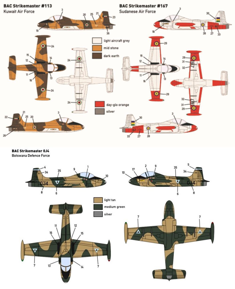 BAC ストライクマスター (クウェート スーダン ボツワナ)プラモデル(ミニウイング1/144 インジェクションキットNo.mini322)商品画像_3