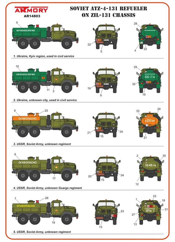 ATZ-4-131 3.5トン 6x6輪駆動 給油車プラモデル(ARMORY1/144 ミリタリーNo.AR14803)商品画像_2