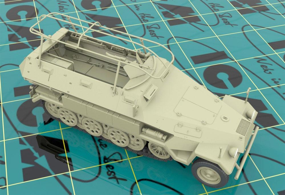 ドイツ Sd.Kfz.251/6 Ausf.A 装甲無線指揮車プラモデル(ICM1/35 ミリタリービークル・フィギュアNo.35102)商品画像_3