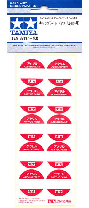キャップラベル (アクリル塗料用)ラベル(タミヤタミヤ クラフトツールNo.87197)商品画像