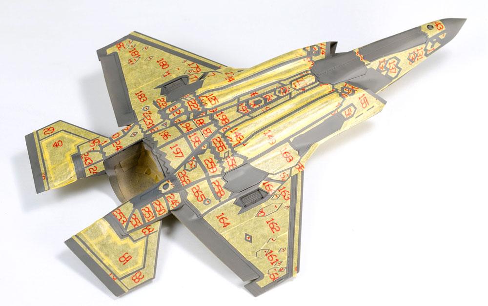 F-35B ライトニング 2 フレキシブル マスクシールマスキング(ギャラクシーモデルマスキングシートNo.D72001)商品画像_3