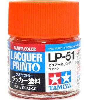 LP-51 ピュアーオレンジ塗料(タミヤタミヤ ラッカー塗料No.LP-051)商品画像
