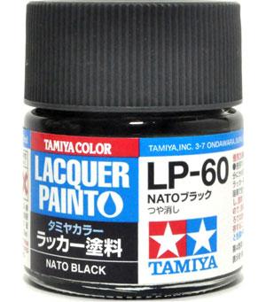LP-60 NATOブラック塗料(タミヤタミヤ ラッカー塗料No.LP-060)商品画像