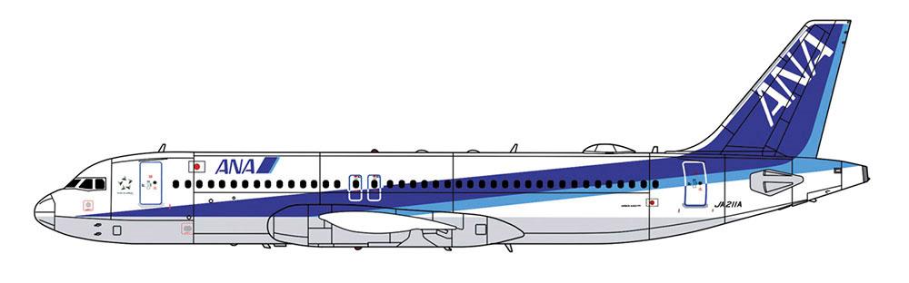 ANA エアバス A320neoプラモデル(ハセガワ1/200 飛行機 限定生産No.10828)商品画像_2