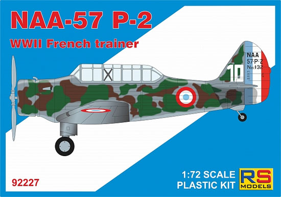 ノースアメリカン NAA-57 P-2 フランス練習機プラモデル(RSモデル1/72 エアクラフト プラモデルNo.92227)商品画像