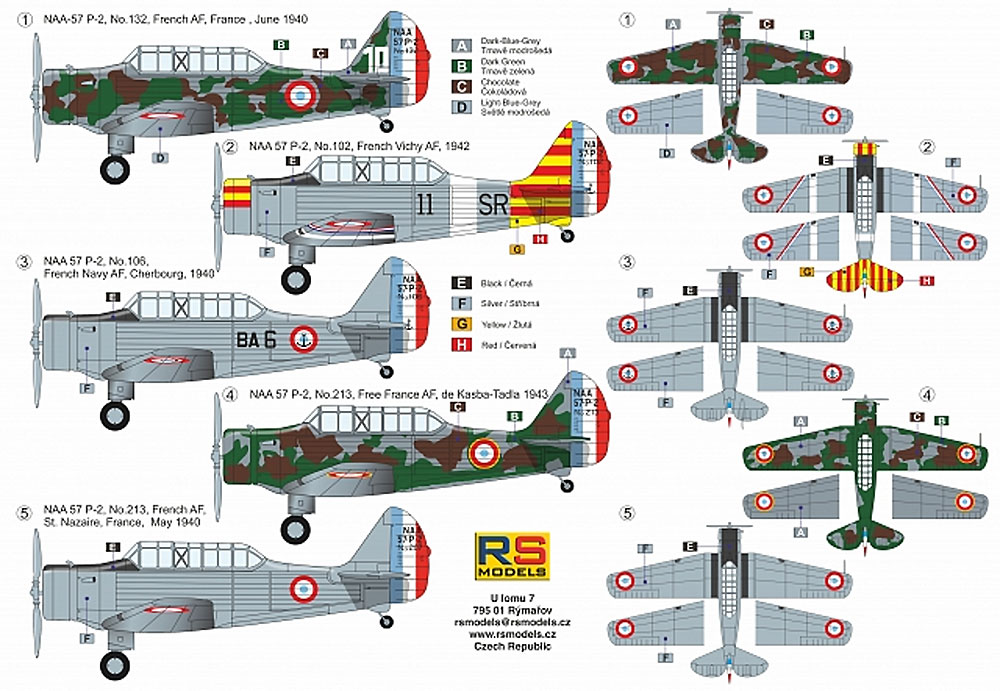 ノースアメリカン NAA-57 P-2 フランス練習機プラモデル(RSモデル1/72 エアクラフト プラモデルNo.92227)商品画像_1