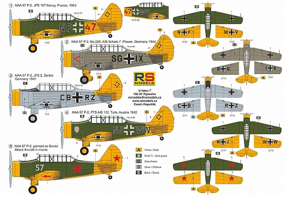 ノースアメリカン NAA-57 P-2 ドイツ空軍プラモデル(RSモデル1/72 エアクラフト プラモデルNo.92228)商品画像_2