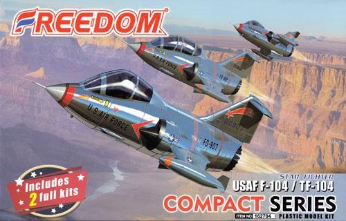 アメリカ空軍 F-104 / TF-104プラモデル(フリーダムモデルコンパクトシリーズNo.162704)商品画像