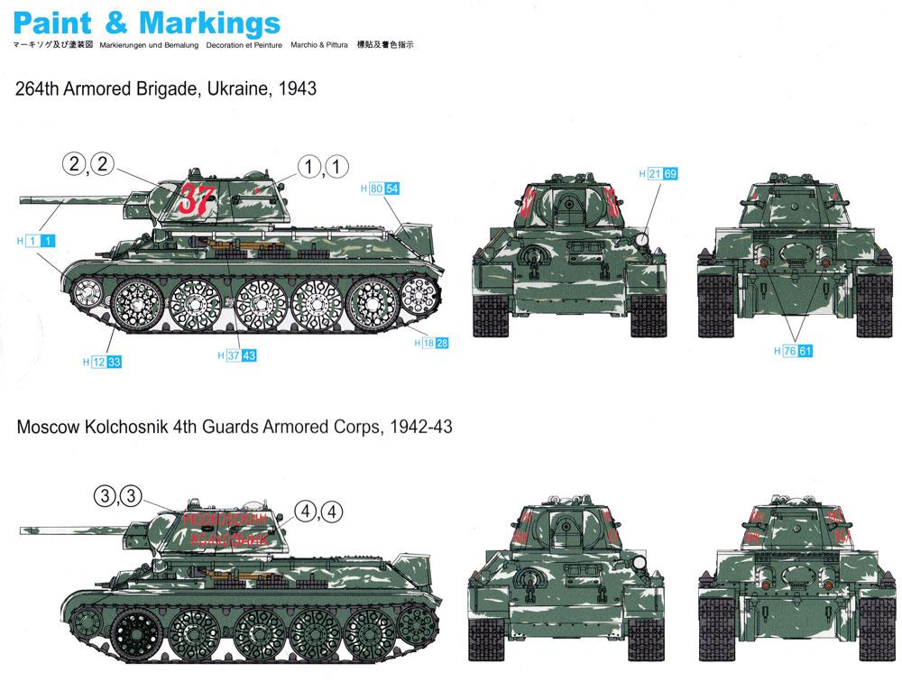 T-34/76 Mod.1942プラモデル(ドラゴン1/72 ARMOR PRO (アーマープロ)No.7595)商品画像_1