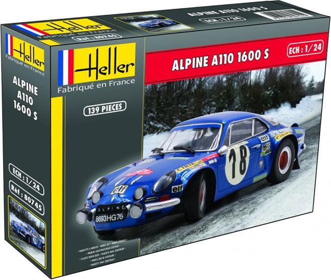 アルピーヌ A110 1600Sプラモデル(エレール1/24 カーモデルNo.80745)商品画像